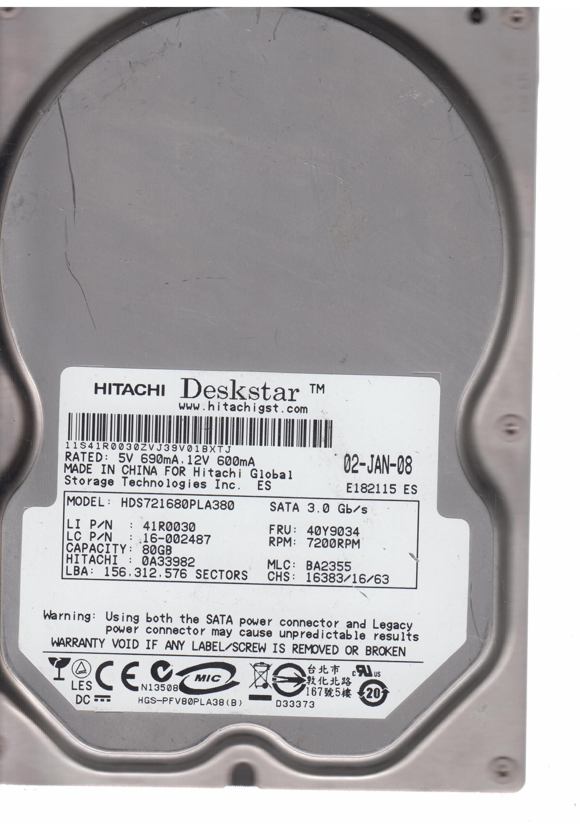 HDS721680PLA380