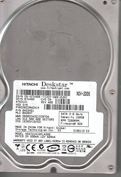 HDS721016SLA380