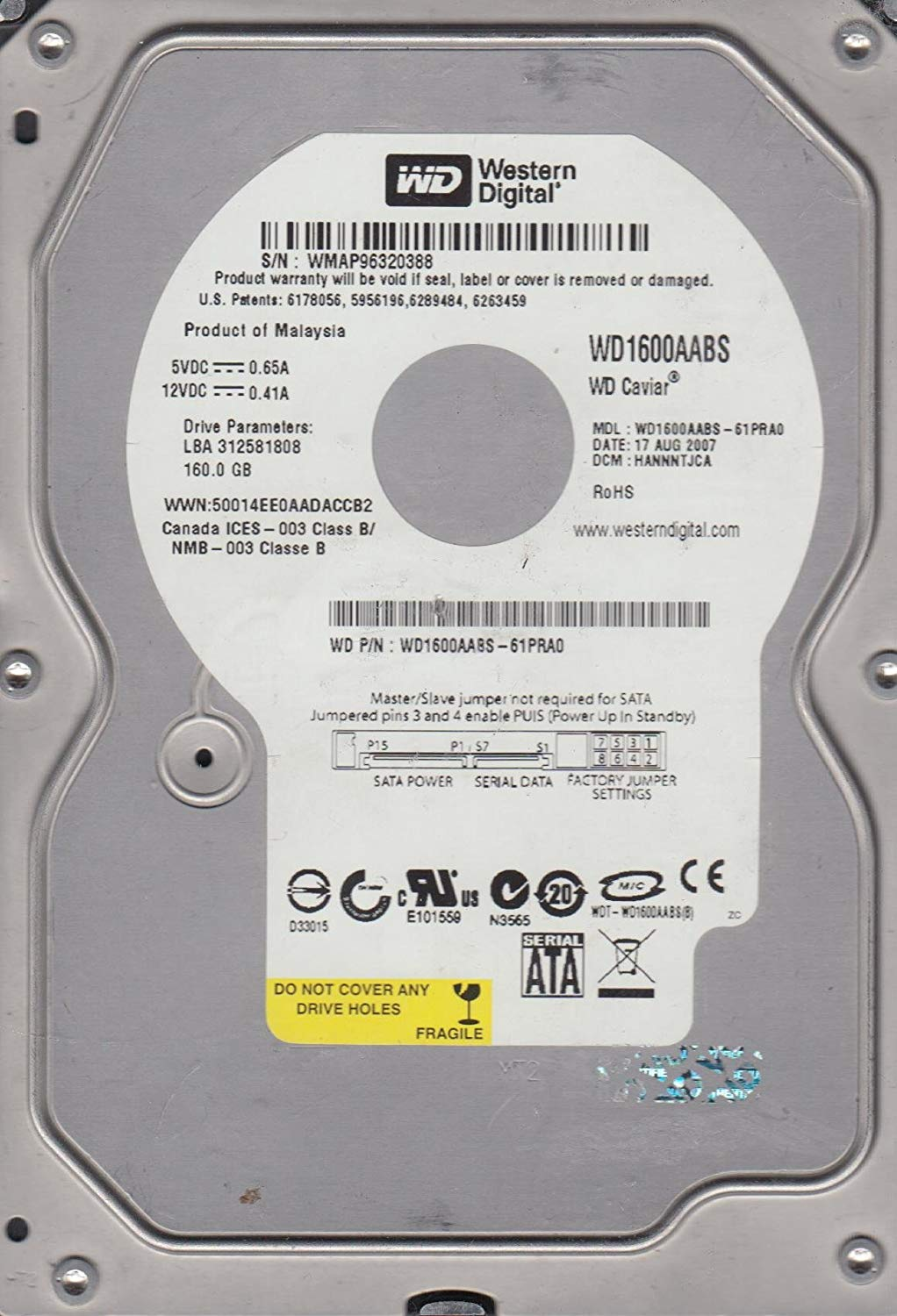 WD1600AABS