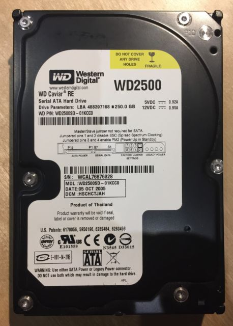 WD2500SD