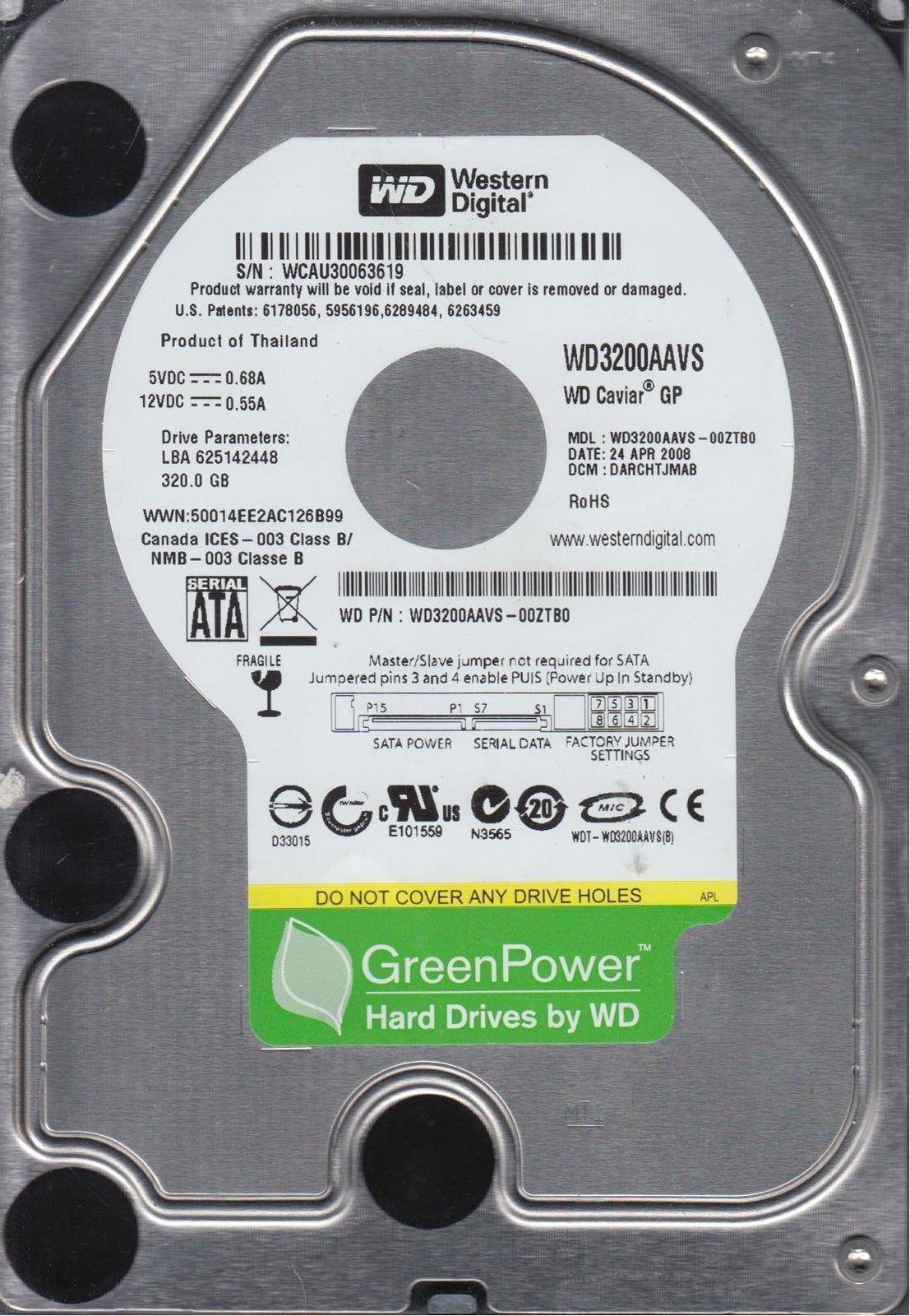 WD3200AAVS