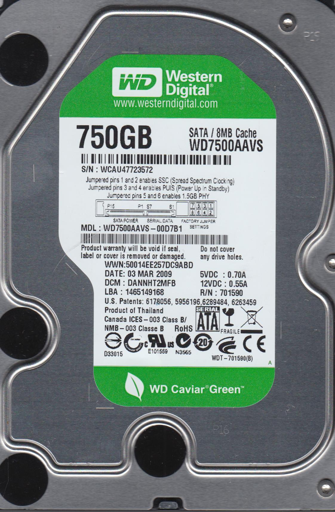 WD7500AAVS